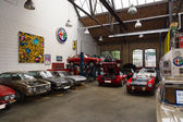 Restoration workshop of Italian cars — Foto de Stock
