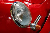 Headlamp of the sports car Porsche — Stock Photo