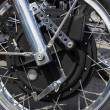 Постер, плакат: BERLIN GERMANY MAY 17 2014: Unique magnesium front brake of the motorcycle 1200 Munch Mammoth TTS 27th Oldtimer Day Berlin Brandenburg