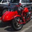Постер, плакат: BERLIN GERMANY MAY 17 2014: Motorcycle with sidecar Moto Guzzi V7 27th Oldtimer Day Berlin Brandenburg