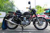 BERLIN, GERMANY - MAY 17, 2014: Motorcycle Royal Enfield Bullet 500 es. 27th Oldtimer Day Berlin - Brandenburg — Stock Photo