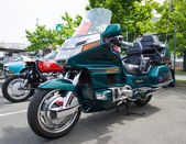 BERLIN, GERMANY - MAY 17, 2014: Touring motorcycle Honda Gold Wing. 27th Oldtimer Day Berlin - Brandenburg — Stock Photo
