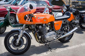 BERLIN, GERMANY - MAY 17, 2014: Italian sport bike Laverda 1000, 1973. 27th Oldtimer Day Berlin - Brandenburg — Foto de Stock