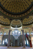 SIDE, TURKEY - JUNE 21, 2014: The interior of the main mosque in the town of Side. Anatolian coast. — Foto Stock