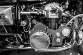 BERLIN, GERMANY - MAY 17, 2014: Engine of the motorcycle Munch Mammoth 1200 TTS. Black and white. 27th Oldtimer Day Berlin - Brandenburg — Stock Photo