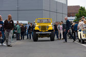 BERLIN, GERMANY - MAY 17, 2014: A compact four-wheel drive off-road and sport utility vehicle (SUV), Jeep Wrangler. 27th Oldtimer Day Berlin - Brandenburg — Стоковое фото