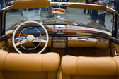BERLIN, GERMANY - MAY 17, 2014: Cabin of the luxury car Mercedes-Benz 220S (W180 II). 27th Oldtimer Day Berlin - Brandenburg — Stock Photo