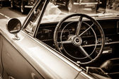 BERLIN, GERMANY - MAY 17, 2014: Cabin of the mid-size car Plymouth Satelitte 2-door Hardtop (First Generation). Sepia. 27th Oldtimer Day Berlin - Brandenburg — Stock Photo