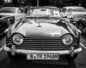 BERLIN, GERMANY - MAY 17, 2014: Sports car Triumph TR5. Black and white. 27th Oldtimer Day Berlin - Brandenburg — Stock Photo