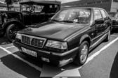 BERLIN, GERMANY - MAY 17, 2014: Executive car Lancia Thema 8.32 (engine Ferrari V8). Black and white. 27th Oldtimer Day Berlin - Brandenburg — Stock Photo