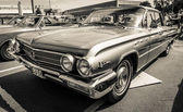 BERLIN, GERMANY - MAY 17, 2014: Full-size car Buick LeSabre 4-Door Sedan (1962). Black and white. 27th Oldtimer Day Berlin - Brandenburg — Stock Photo