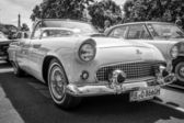 BERLIN, GERMANY - MAY 17, 2014: Personal luxury car Ford Thunderbird (first generation). Black and white. 27th Oldtimer Day Berlin - Brandenburg — Stock Photo