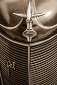 BERLIN, GERMANY - MAY 17, 2014: Detail of the oldtimers Ford Eifel. Sepia. 27th Oldtimer Day Berlin - Brandenburg — Stock Photo