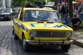 BERLIN, GERMANY - MAY 17, 2014: Soviet car VAZ 2101 in the coloring of the traffic police (GAI). 27th Oldtimer Day Berlin - Brandenburg — Stock Photo