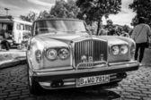 BERLIN, GERMANY - MAY 17, 2014: Full-size luxury car Bentley T2. Black and white. 27th Oldtimer Day Berlin - Brandenburg — Stock Photo