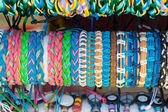 Braided bracelets. Background — Stockfoto