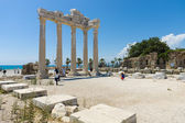 The ruins of the temple of Apollo. Side - Greek and later Roman city on the Anatolian coast. Founded in the 7th century BC. — Stock Photo