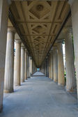 Columns stretching into the distance. — Stock Photo