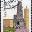 Постер, плакат: Postage stamp printed in Germany dedicated to the 100th anniversary of the Kaiser Wilhelm Memorial Church Berlin
