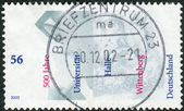 Postage stamp printed in Germany, dedicated to the 500th anniversary of Halle-Wittenberg University — Stockfoto