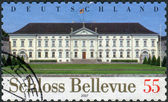 Postage stamp printed in Germany, shows the presidential palace in Berlin, Schloss Bellevue — Stock Photo