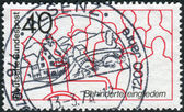 Postage stamp printed in Germany, dedicated to Rehabilitation of the handicapped — Stockfoto