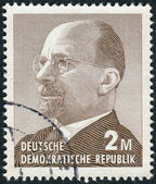 Postage stamp printed in Germany (GDR), shows a German Communist politician and statesman Walter Ulbricht — Stock Photo