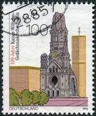 Postage stamp printed in Germany, dedicated to the 100th anniversary of the Kaiser Wilhelm Memorial Church, Berlin — Stock Photo
