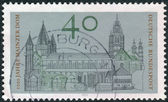 Postage stamp printed in Germany, dedicated to Millennium of the Cathedral of Mainz — Stockfoto