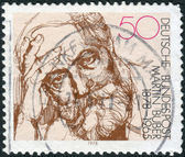 Postage stamp printed in Germany, shows a writer and philosopher Martin Buber — Stock Photo