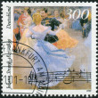 Postage stamp printed in Germany, dedicated to the 100th anniversary of the death of Johann Strauss, shows Viennese Ball in Hofburg Palace — Stock Photo #51152213