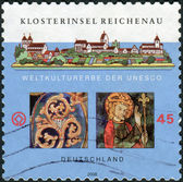 Postage stamp printed in Germany, dedicated to the Monastic Island of Reichenau (World Heritage 2000) — Stock Photo