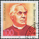 Postage stamp printed in Germany, shows Fr. Sebastian Kneipp, Hydrotherapist — Stock Photo
