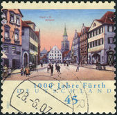 Postage stamp printed in Germany, dedicated to the 1000th anniversary of the city of Fuerth — Stock Photo
