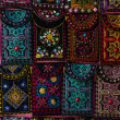 Traditional national embroidery, with folk motifs and patterns. Sale of handmade goods. Bazaar. Turkey. — Stock Photo #51178437