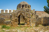 Ruins of the Church of St. George, the Byzantine era. Alanya Castle. Turkey — Stock Photo