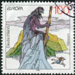 Postage stamp printed in Germany, dedicated to the sagas and legends, depicted Rubezahl of Riesengebirge (Giant Mountains) — Stock Photo #51207857