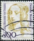 Postage stamp printed in Germany, shows portrait of Luise Henriette von Oranien — Stock Photo