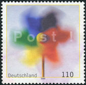 Postage stamp printed in Germany, shows Pinwheel — Stock Photo