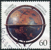 Postage stamp printed in Germany, dedicated to the 500th anniversary of Construction of First Globe by Martin Behaim — Stockfoto