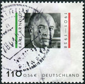 Postage stamp printed in Germany, shows Karl Arnold, politician — Photo