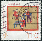 Postage stamp printed in Germany, dedicated to the 115th anniversary of Dominikus-Ringeisen Institution, Ursberg — Stockfoto