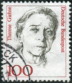 Postage stamp printed in Germany, shows portrait of Therese Giehse, actress — Stockfoto