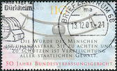 Postage stamp printed in Germany, dedicated to the 50th anniversary of the Federal Constitutional Court, Karlsruhe — Stock Photo