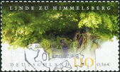 Postage stamp printed in Germany, shows Himmelsberg Lime Tree Natural Monument (age 750 years) — Stockfoto
