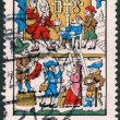 Постер, плакат: Postage stamp printed in Germany dedicated to the 250th anniversary of the death of Dr Johann Andreas Eisenbarth depicted Traveling surgeon