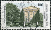 Postage stamp printed in Germany, dedicated to the 200th anniversary of Choral Singing Academy of Berlin — 图库照片