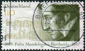 Postage stamp printed in Germany, shows the composer Felix Mendelssohn-Bartholdy — Stock Photo
