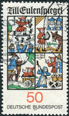 Postage stamp printed in Germany, shows the Scenes from Till Eulenspiegel — Stock Photo