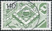 パレ ドゥ ルーロップ、ストラスブールを示します、ドイツで切手の印刷 — ストック写真